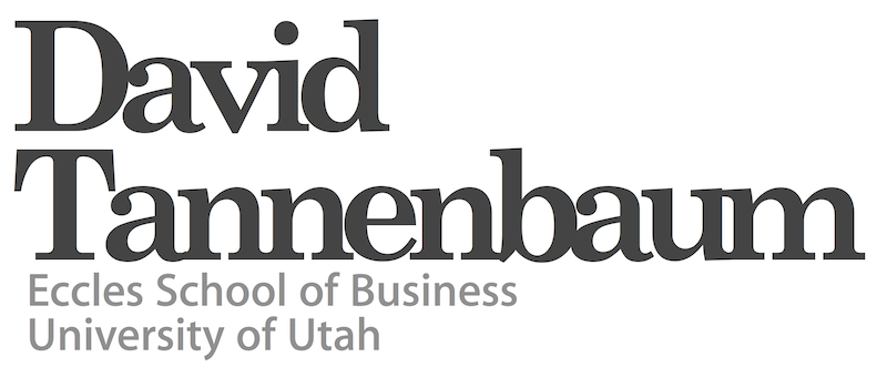 David Tannenbaum: University of Utah.